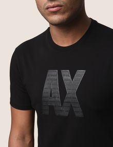 ARMANI EXCHANGE TONAL LOGO ACCENT TEE Logo T-shirt Man b