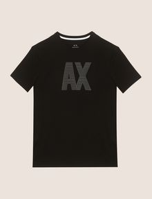 ARMANI EXCHANGE TONAL LOGO ACCENT TEE Logo T-shirt Man r