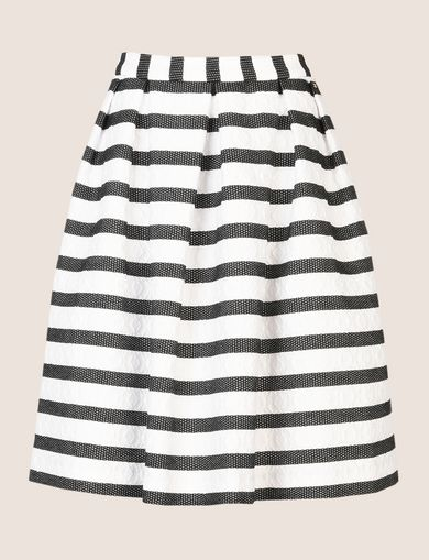SWEATER-STRIPE JACQUARD SKIRT