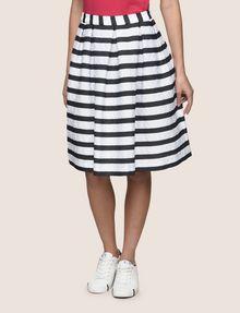 ARMANI EXCHANGE SWEATER-STRIPE JACQUARD SKIRT Midi Skirt Woman f