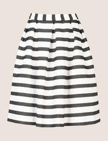 ARMANI EXCHANGE SWEATER-STRIPE JACQUARD SKIRT Midi Skirt Woman r