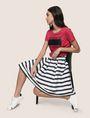 ARMANI EXCHANGE SWEATER-STRIPE JACQUARD SKIRT Midi Skirt Woman a