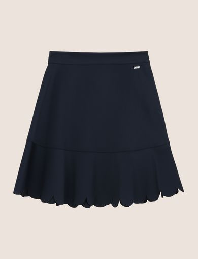 SCALLOPED HEM MINI SKIRT