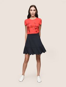ARMANI EXCHANGE SCALLOPED HEM MINI SKIRT Mini skirt Woman d