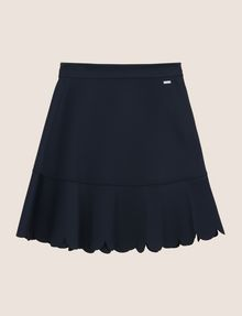 ARMANI EXCHANGE SCALLOPED HEM MINI SKIRT Mini skirt Woman r