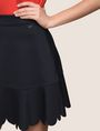 ARMANI EXCHANGE SCALLOPED HEM MINI SKIRT Mini skirt Woman b
