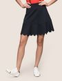 ARMANI EXCHANGE SCALLOPED HEM MINI SKIRT Mini skirt Woman f