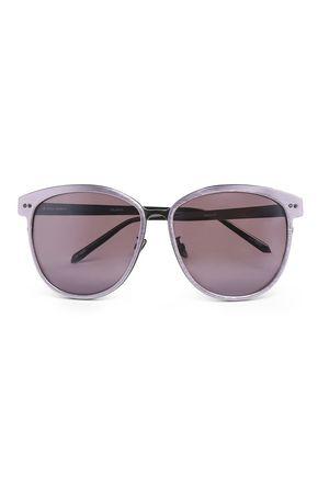 LINDA FARROW Round acetate sunglasses