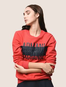 ARMANI EXCHANGE PUFF LOGO SWEATSHIRT TOP Fleece Top Woman a
