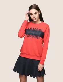ARMANI EXCHANGE PUFF LOGO SWEATSHIRT TOP Fleece Top Woman f