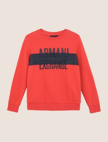 ARMANI EXCHANGE PUFF LOGO SWEATSHIRT TOP Fleece Top Woman r