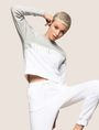 ARMANI EXCHANGE PIECED WAVE SWEATSHIRT TOP Fleece Top Woman a
