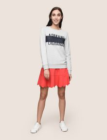 ARMANI EXCHANGE PUFF LOGO SWEATSHIRT TOP Fleece Top Woman d