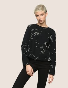 ARMANI EXCHANGE FLORAL CONFETTI SWEATSHIRT TOP Fleece Top Woman f