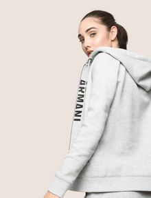 ARMANI EXCHANGE SPLIT LOGO HOODIE Fleece Top Woman a