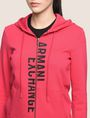 ARMANI EXCHANGE SPLIT LOGO HOODIE Fleece Top Woman b