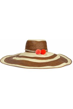 SOPHIE ANDERSON Corozon pompom-embellished striped straw sunhat