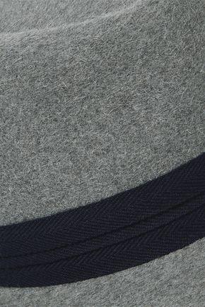 MAISON MICHEL Grosgrain-trimmed wool-felt fedora