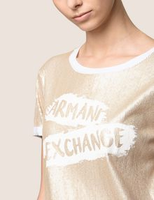 ARMANI EXCHANGE ALLOVER SEQUIN PAINTED LOGO TEE Logo T-shirt Woman b