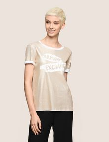 ARMANI EXCHANGE ALLOVER SEQUIN PAINTED LOGO TEE Logo T-shirt Woman f