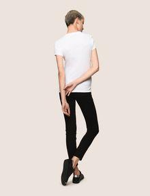 ARMANI EXCHANGE BLOCK LETTER V-NECK TEE Logo T-shirt Woman e