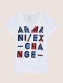 ARMANI EXCHANGE BLOCK LETTER V-NECK TEE Logo T-shirt Woman r