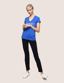 ARMANI EXCHANGE GLITTER JACKPOT LOGO TEE Logo T-shirt Woman d
