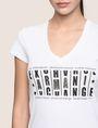ARMANI EXCHANGE GLITTER JACKPOT LOGO TEE Logo T-shirt Woman b