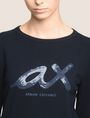 ARMANI EXCHANGE SEQUIN SCRIPT EMBELLISHED SWEATER Pullover Woman b