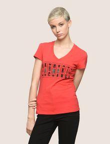 ARMANI EXCHANGE GLITTER JACKPOT LOGO TEE Logo T-shirt Woman f