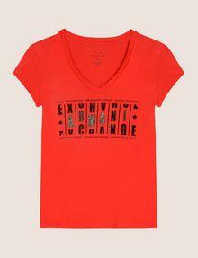 ARMANI EXCHANGE GLITTER JACKPOT LOGO TEE Logo T-shirt Woman r