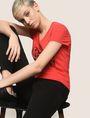 ARMANI EXCHANGE GLITTER JACKPOT LOGO TEE Logo T-shirt Woman a