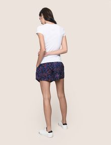 ARMANI EXCHANGE BEADED COMIC LOGO TEE Logo T-shirt Woman e