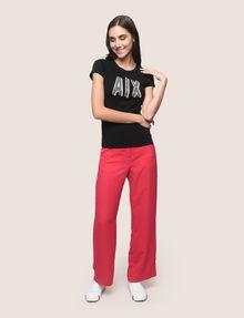 ARMANI EXCHANGE BEADED COMIC LOGO TEE Logo T-shirt Woman d