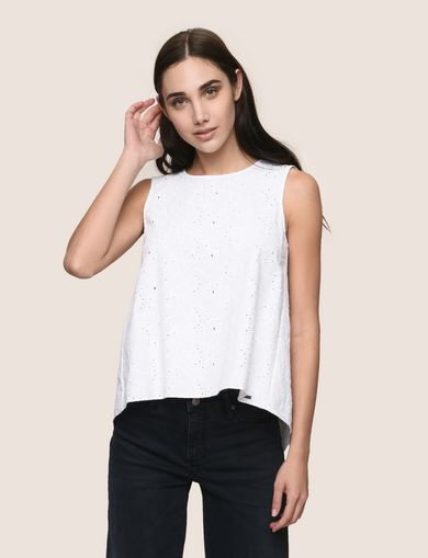 OPEN-BACK EYELET TOP