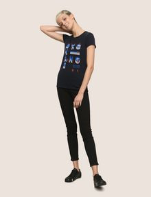 ARMANI EXCHANGE GLITTER POP ART LOGO TEE Logo T-shirt Woman d