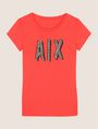 ARMANI EXCHANGE BEADED COMIC LOGO TEE Logo T-shirt Woman r