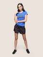 ARMANI EXCHANGE BEADED COMIC LOGO TEE Logo T-shirt Woman d