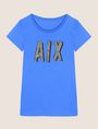 ARMANI EXCHANGE BEADED COMIC LOGO TEE Logo T-shirt Woman r