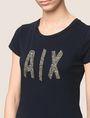 ARMANI EXCHANGE BEADED COMIC LOGO TEE Logo T-shirt Woman b