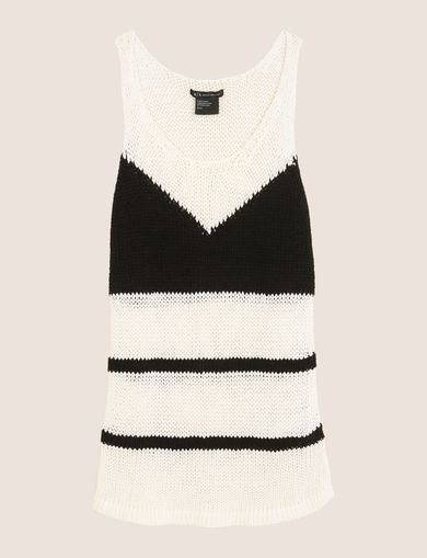 COLORBLOCK STRIPE SWEATER TANK