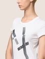ARMANI EXCHANGE GLITTER TAPE LOGO TEE Logo T-shirt Woman b