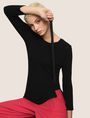 ARMANI EXCHANGE TIE-SIDE LAYERING TOP S/L Knit Top Woman a