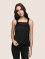 ARMANI EXCHANGE SQUARE-NECK APRON TOP S/S Woven Top Woman f