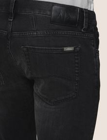 ARMANI EXCHANGE SLIM-FIT WASHED BLACK JEANS Slim fit JEANS Man b
