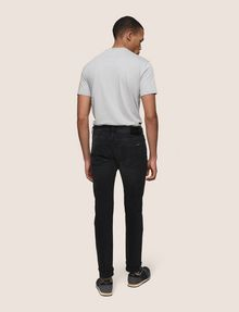ARMANI EXCHANGE SLIM-FIT WASHED BLACK JEANS Slim fit JEANS Man e