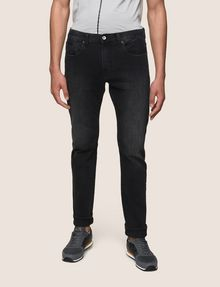 ARMANI EXCHANGE SLIM-FIT WASHED BLACK JEANS Slim fit JEANS Man f