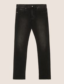 ARMANI EXCHANGE SLIM-FIT WASHED BLACK JEANS Slim fit JEANS Man r