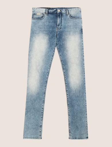 ACID WASH LIGHT SKINNY JEANS