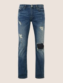 ARMANI EXCHANGE SLIM-FIT DESTROYED AND PATCHED JEANS Slim fit JEANS Man r